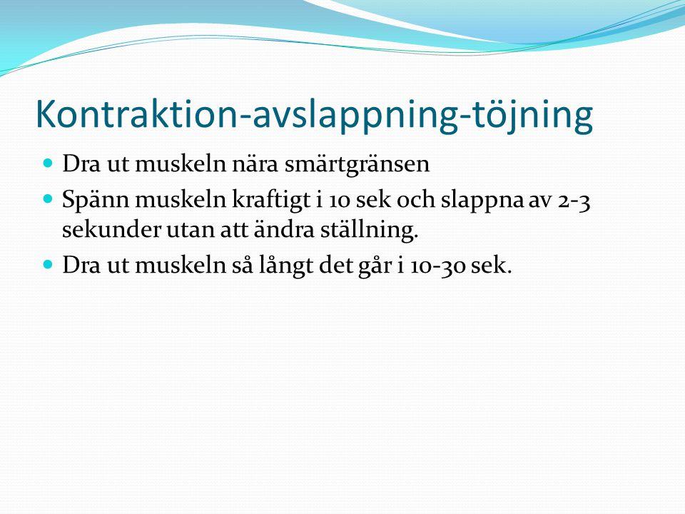 Kontraktion-avslappning-töjning