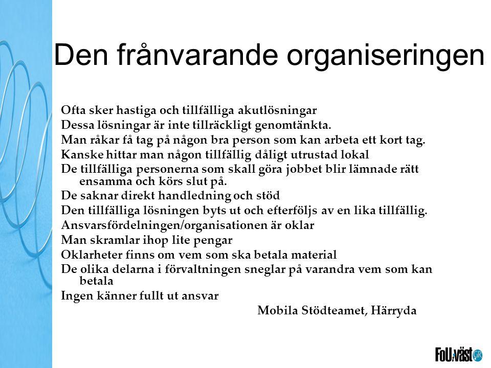 Den frånvarande organiseringen
