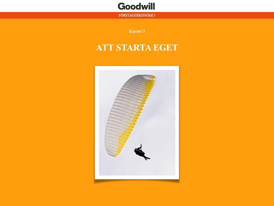 ATT STARTA EGET Annan placering av kapitel 1!