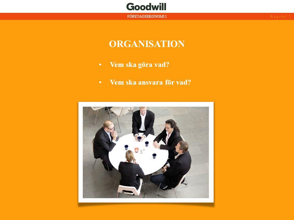 organisation Vem ska göra vad Vem ska ansvara för vad
