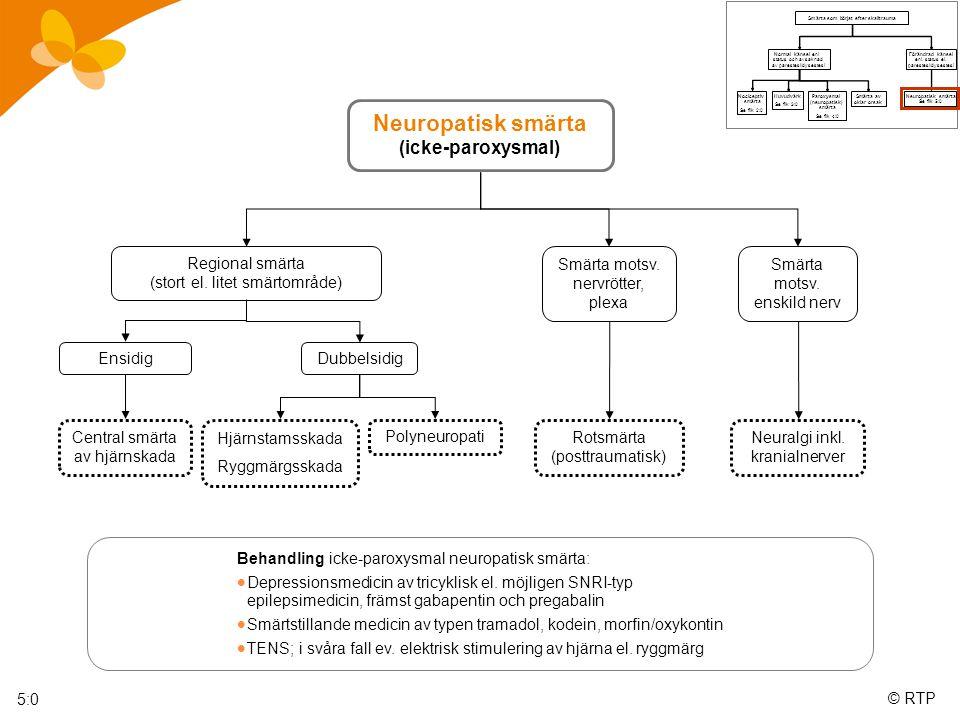 Neuropatisk smärta (icke-paroxysmal)
