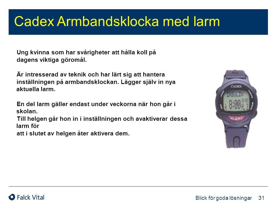 Cadex Armbandsklocka med larm