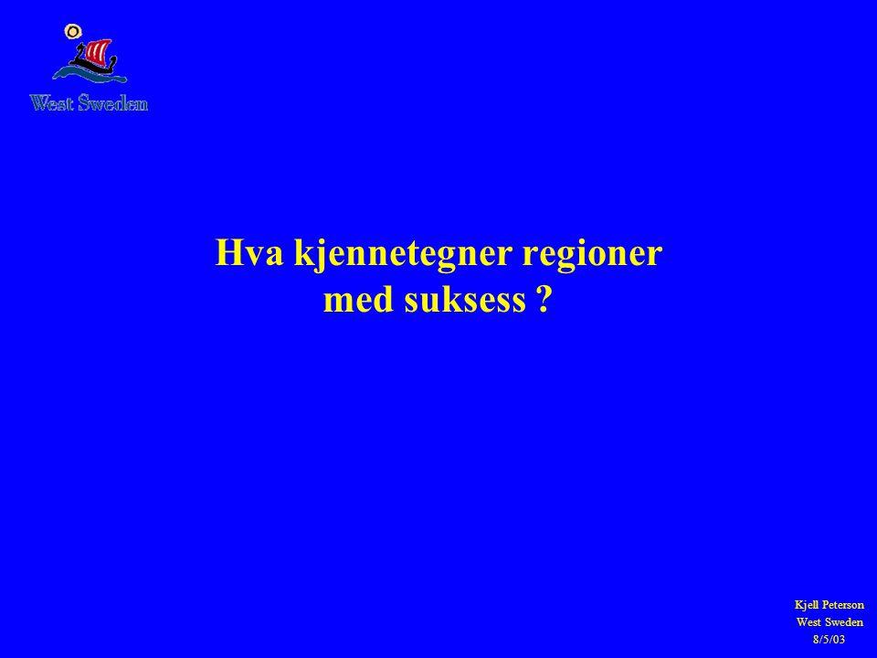 Hva kjennetegner regioner med suksess
