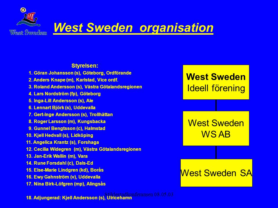 West Sweden organisation
