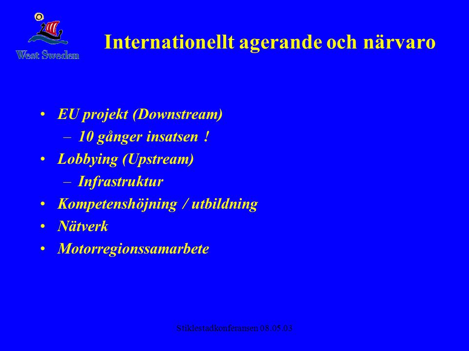 Internationellt agerande och närvaro
