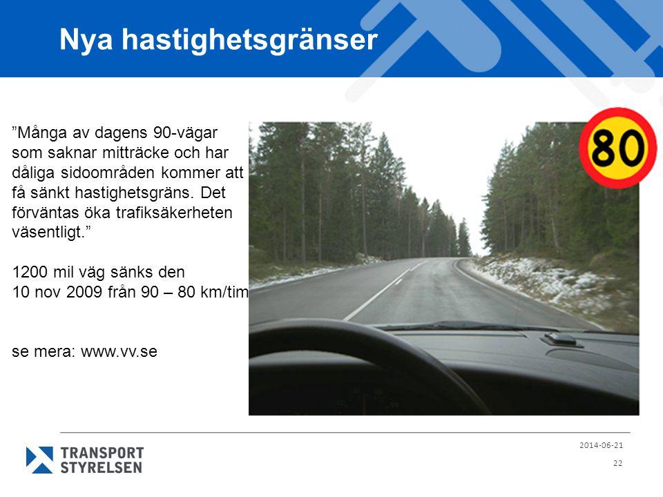 Nya hastighetsgränser