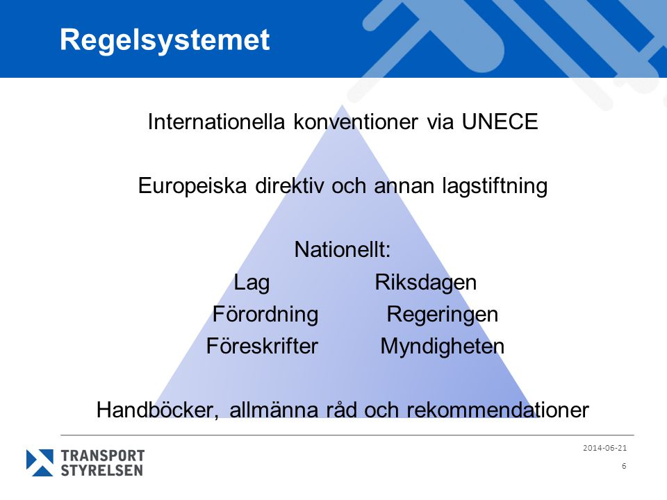 Regelsystemet Internationella konventioner via UNECE