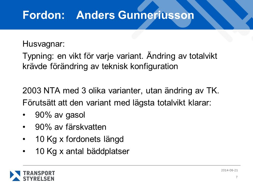 Fordon: Anders Gunneriusson