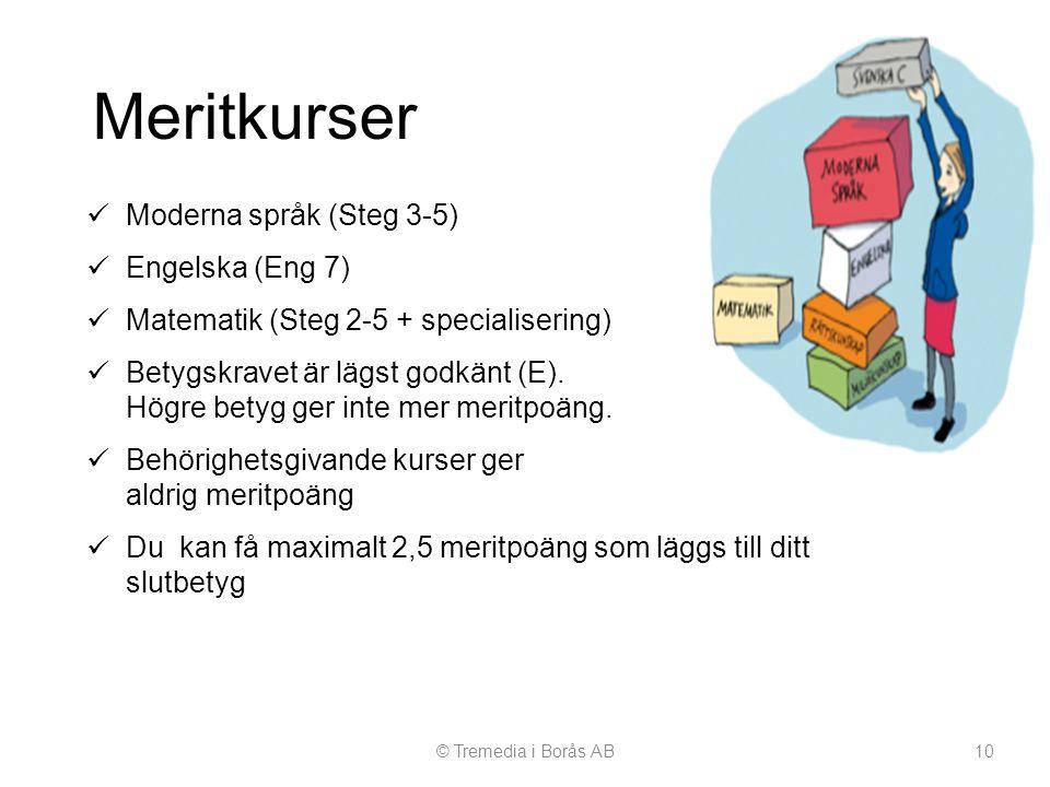 Meritkurser Moderna språk (Steg 3-5) Engelska (Eng 7)