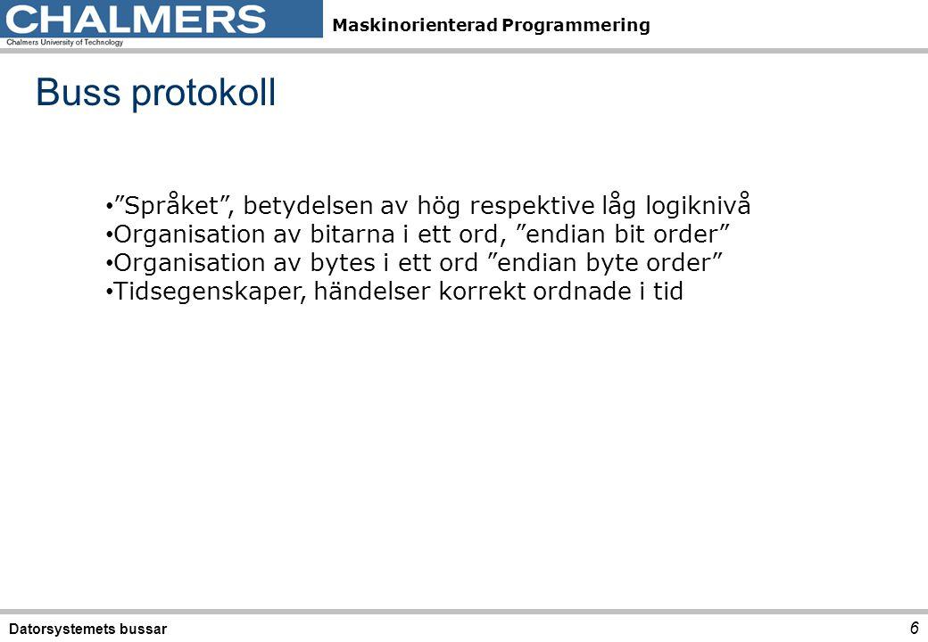 Buss protokoll Språket , betydelsen av hög respektive låg logiknivå