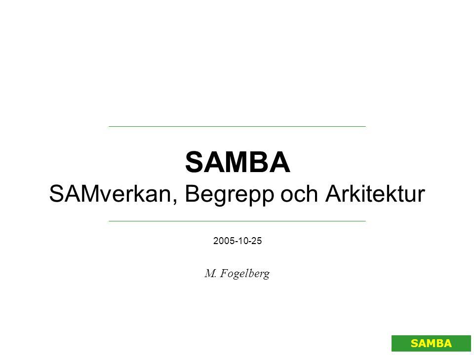 SAMBA SAMverkan, Begrepp och Arkitektur