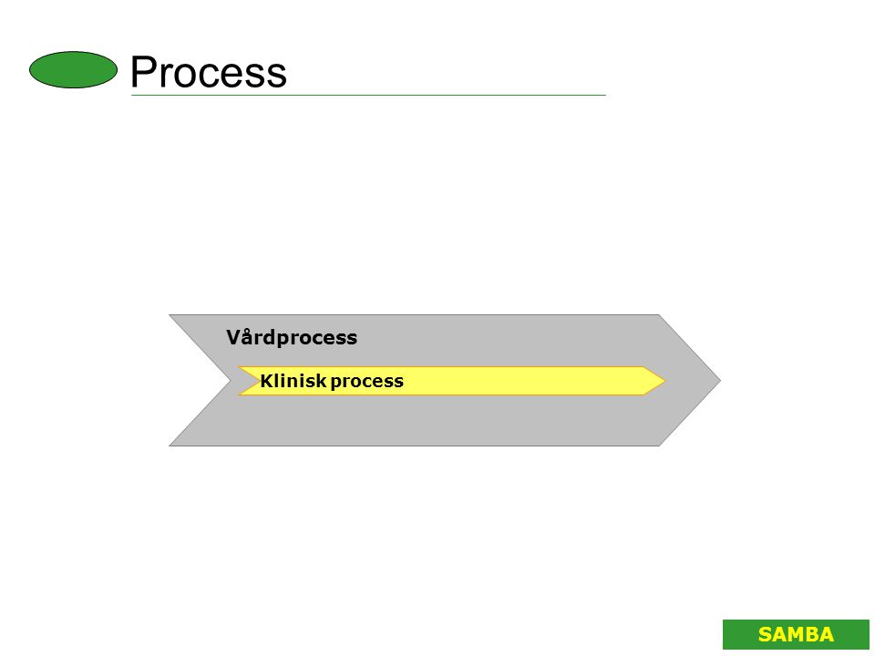 Process Vårdprocess Klinisk process SAMBA