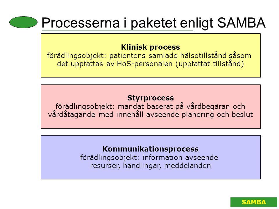 Processerna i paketet enligt SAMBA