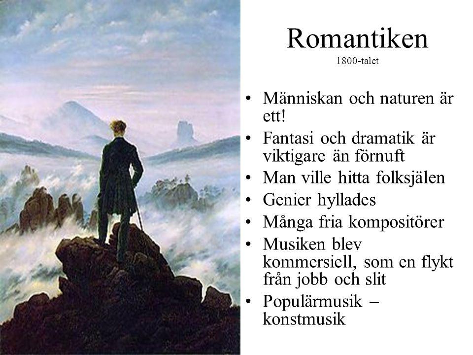 Romantiken 1800-talet Människan och naturen är ett!