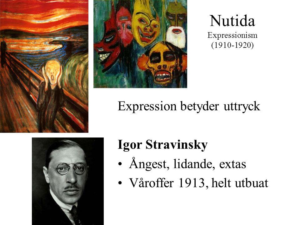 Nutida Expressionism (1910-1920)