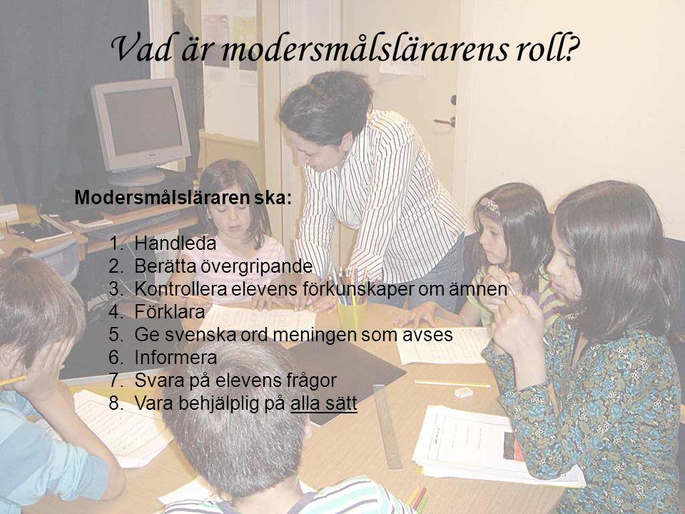 Vad är modersmålslärarens roll
