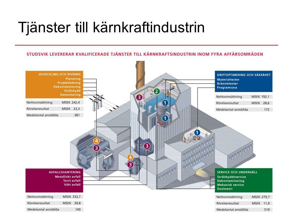 Tjänster till kärnkraftindustrin