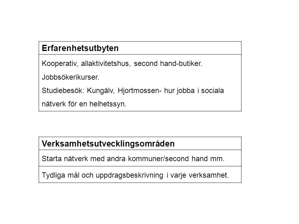 Verksamhetsutvecklingsområden