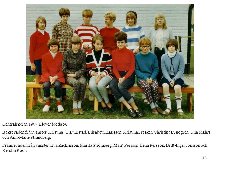 Centralskolan 1967. Elever födda 50.