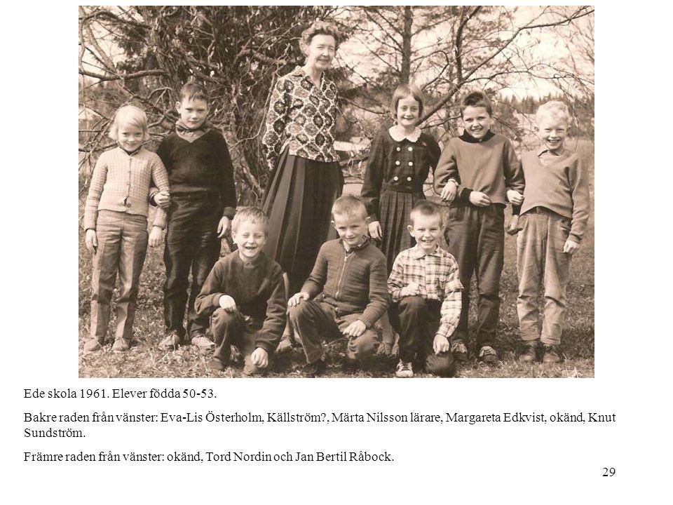 Ede skola 1961. Elever födda 50-53.