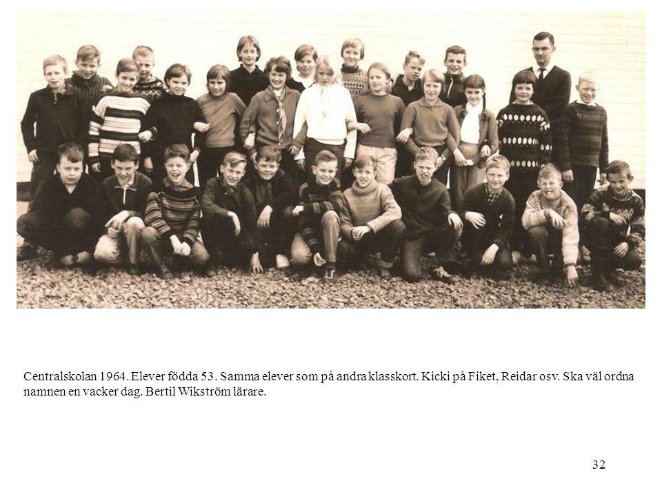 Centralskolan 1964. Elever födda 53