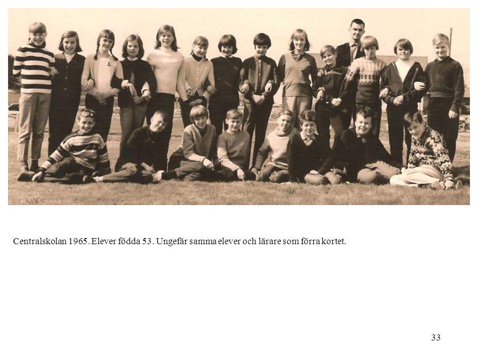 Centralskolan 1965. Elever födda 53