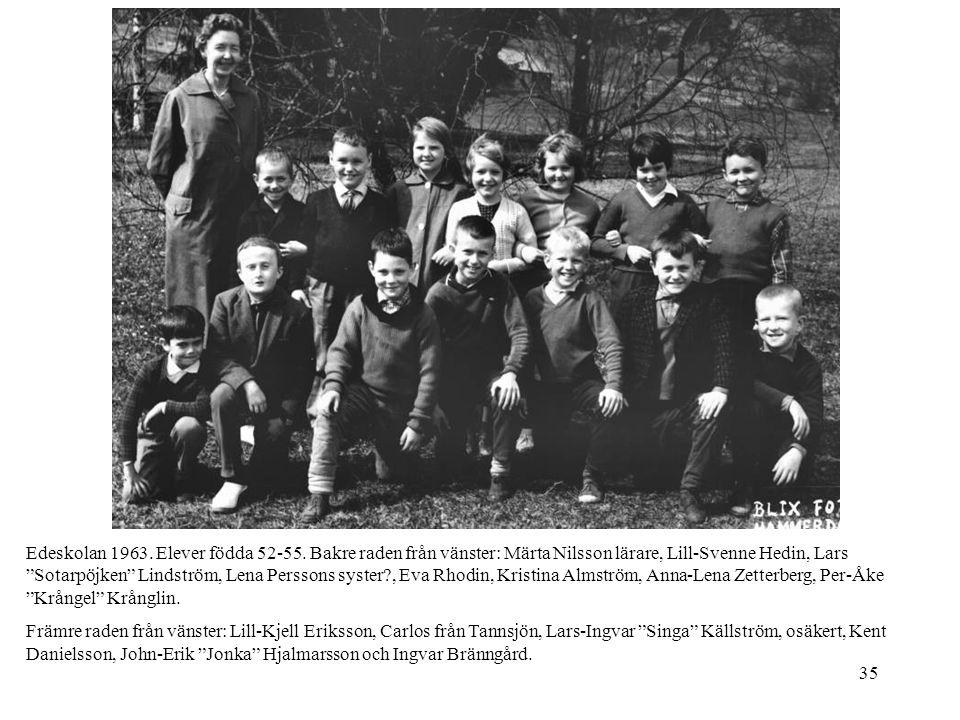 Edeskolan 1963. Elever födda 52-55