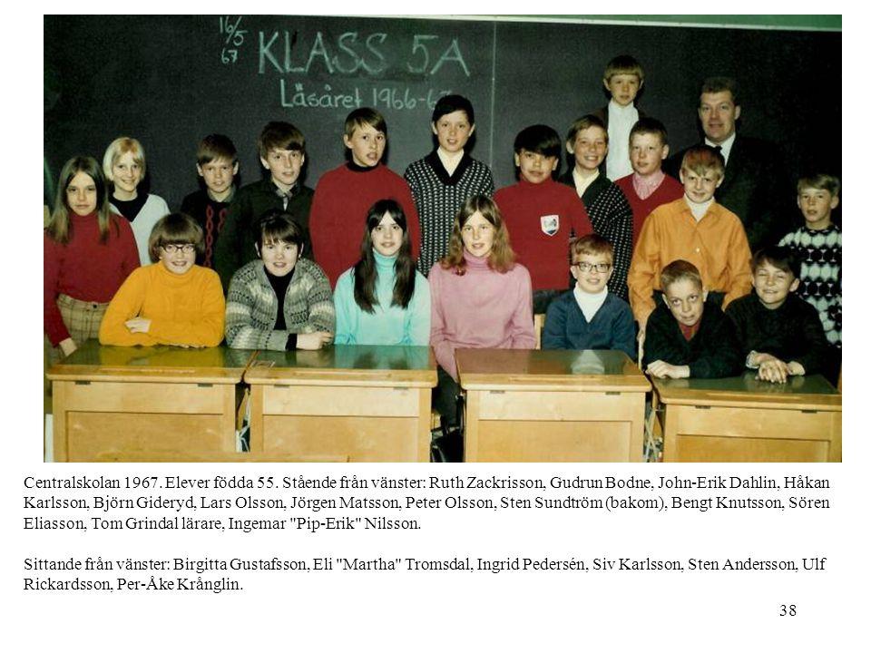 Centralskolan 1967. Elever födda 55