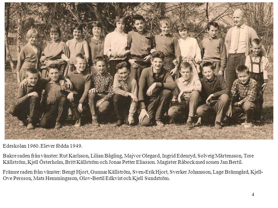 Edeskolan 1960. Elever födda 1949.