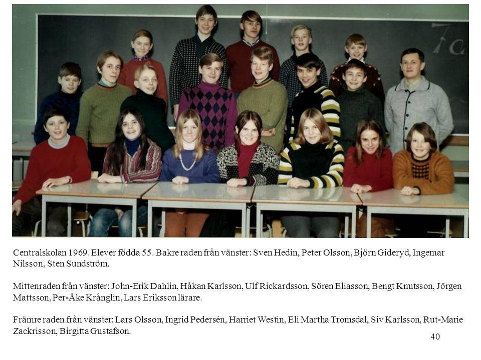 Centralskolan 1969. Elever födda 55