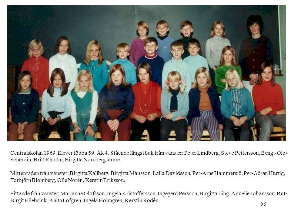 Centralskolan 1969. Elever födda 59. Åk 4