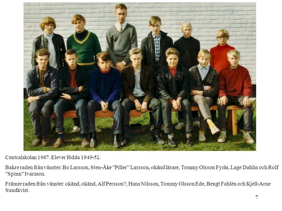 Centralskolan 1967. Elever födda 1949-52.