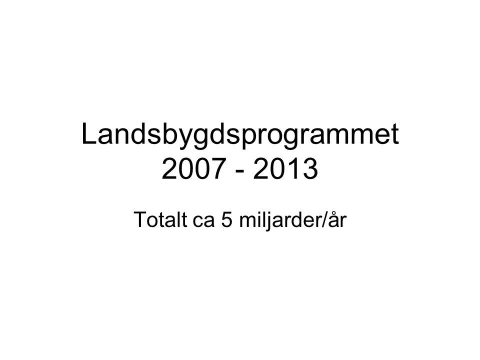 Landsbygdsprogrammet 2007 - 2013