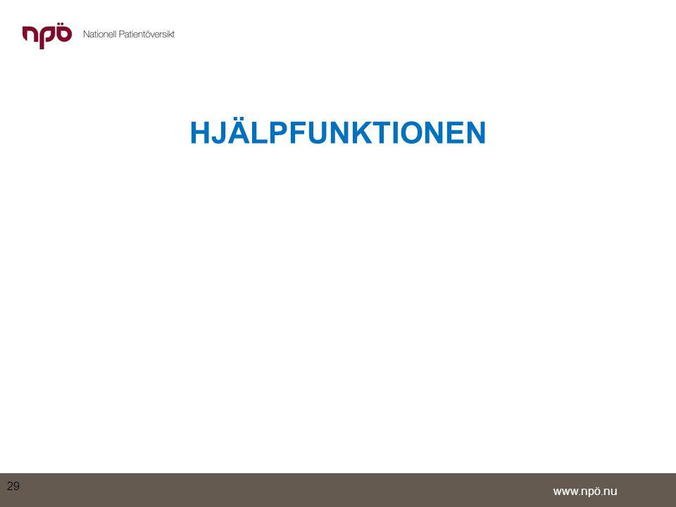 HJÄLPFUNKTIONEN 29