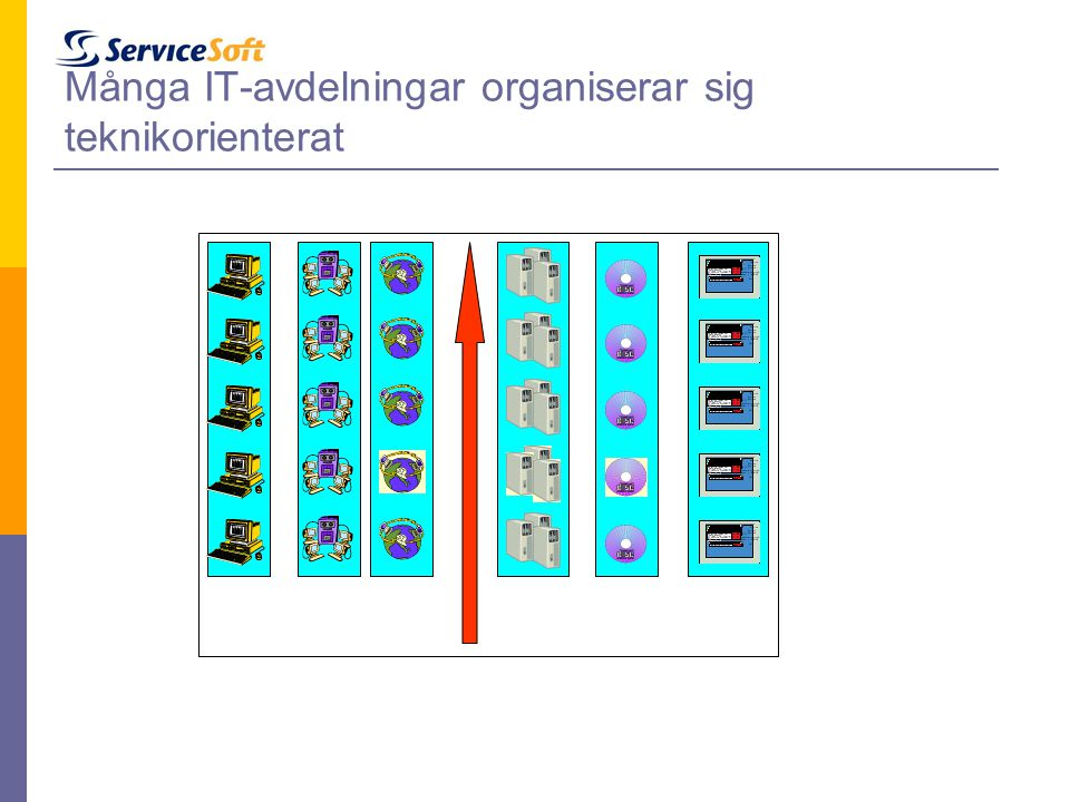 Många IT-avdelningar organiserar sig teknikorienterat