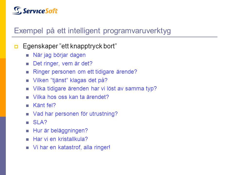 Exempel på ett intelligent programvaruverktyg