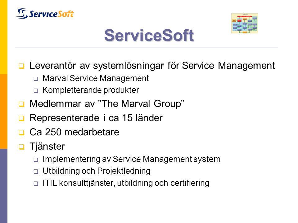ServiceSoft Leverantör av systemlösningar för Service Management