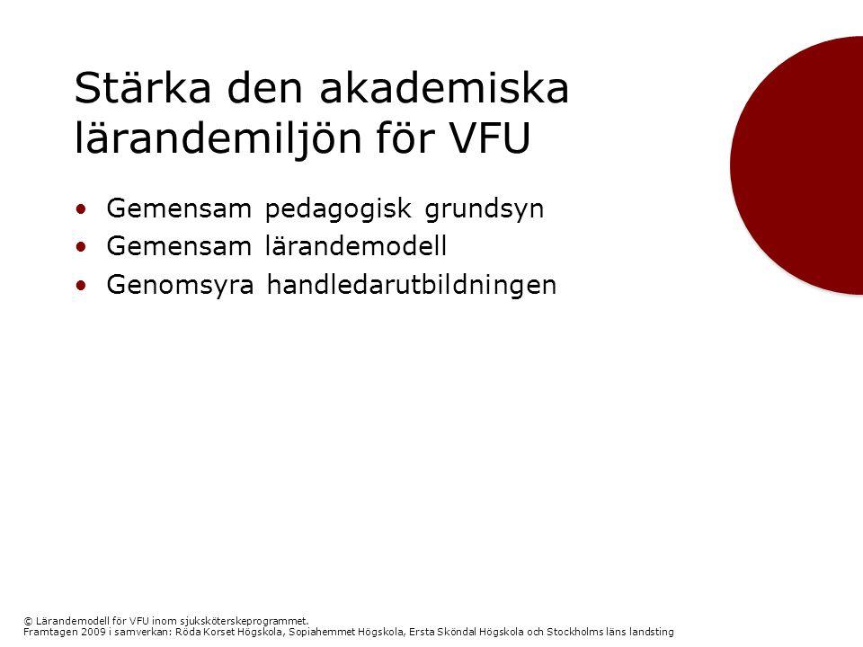 Stärka den akademiska lärandemiljön för VFU