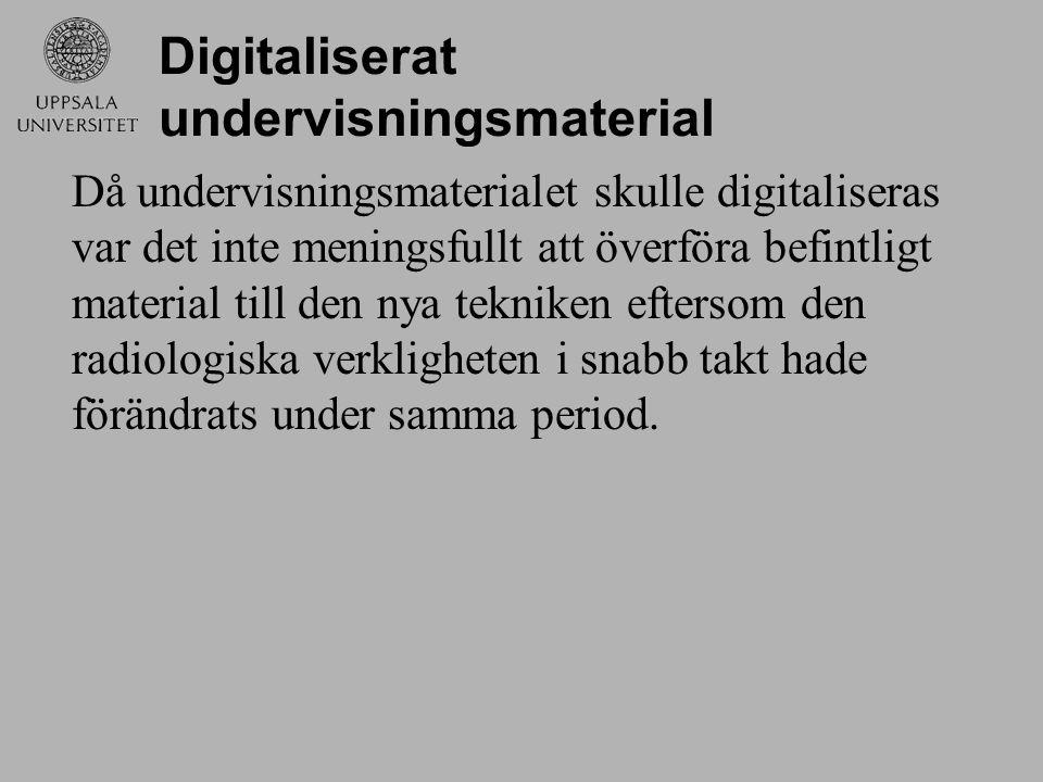 Digitaliserat undervisningsmaterial