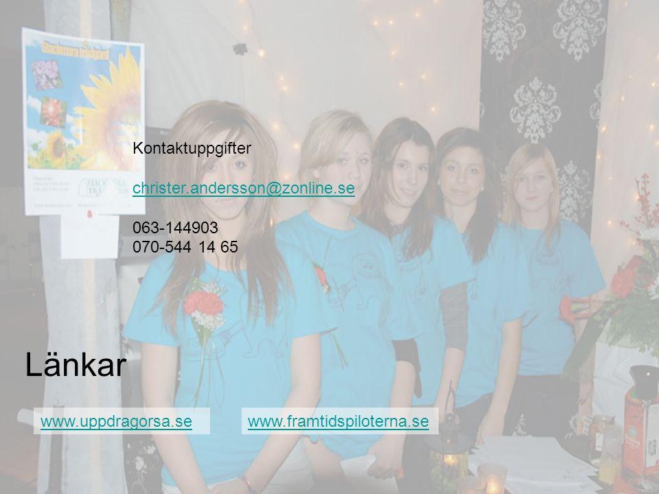 Länkar Kontaktuppgifter christer.andersson@zonline.se 063-144903
