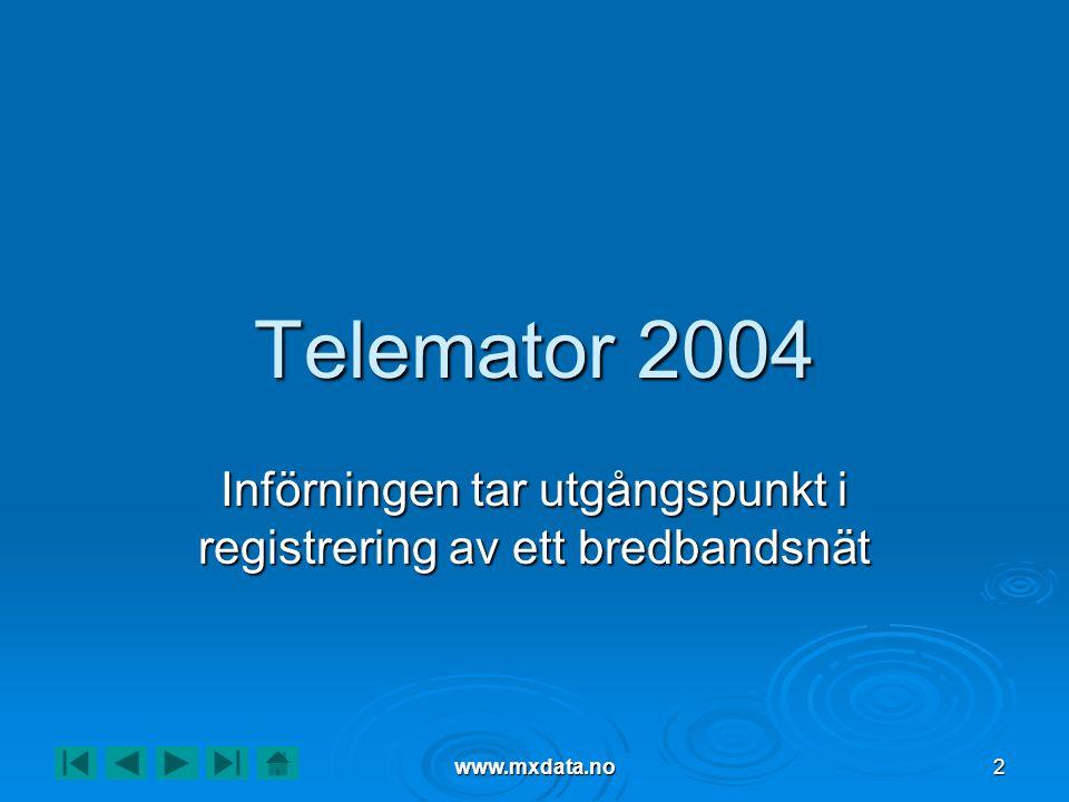 Införningen tar utgångspunkt i registrering av ett bredbandsnät
