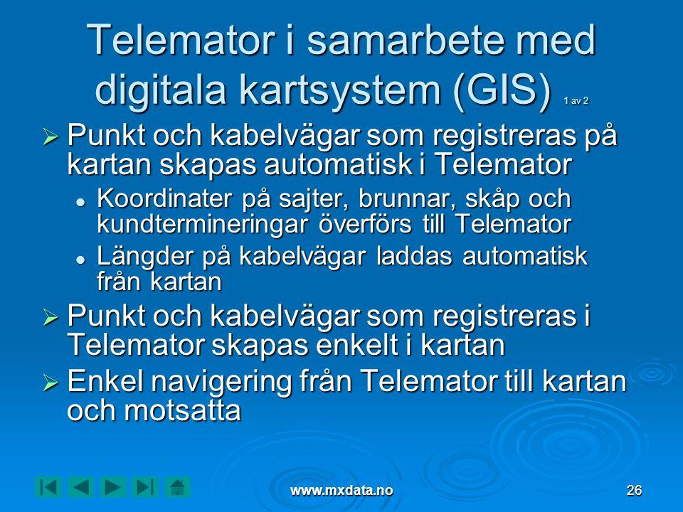Telemator i samarbete med digitala kartsystem (GIS) 1 av 2