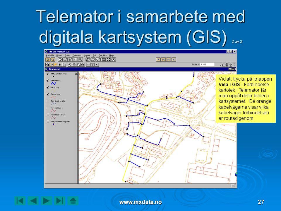 Telemator i samarbete med digitala kartsystem (GIS) 2 av 2