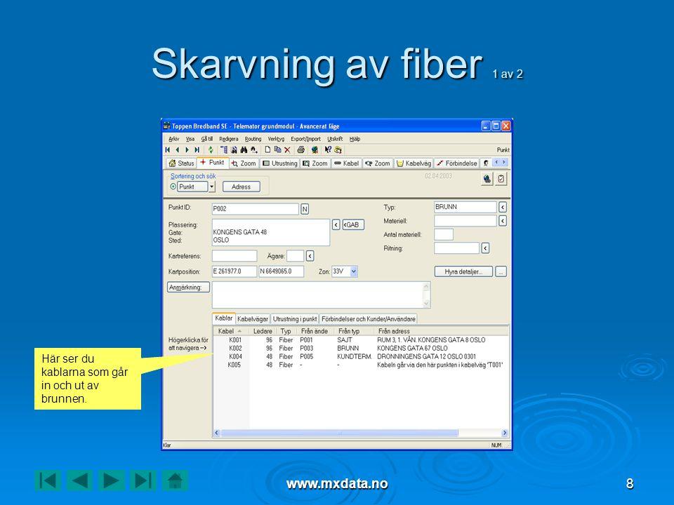 Skarvning av fiber 1 av 2 www.mxdata.no