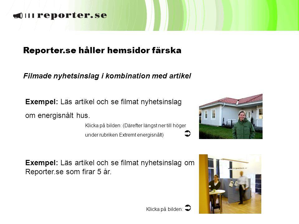 Reporter.se håller hemsidor färska