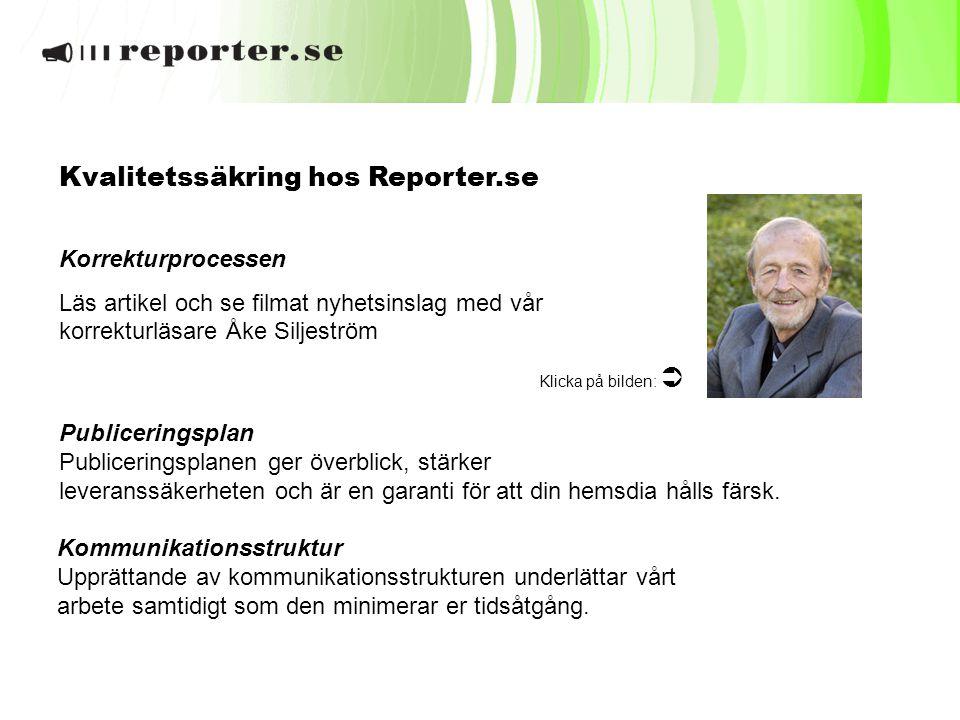 Kvalitetssäkring hos Reporter.se
