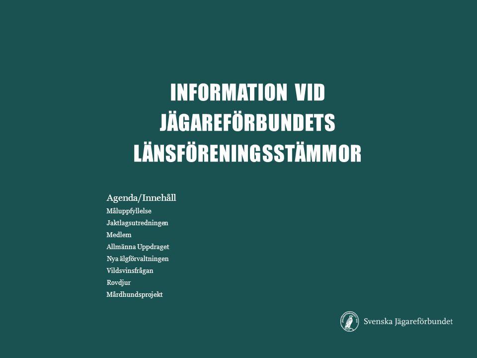 information vid jägareförbundets Länsföreningsstämmor