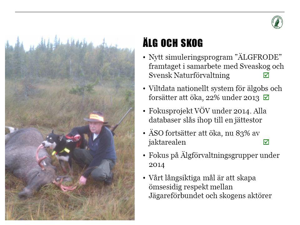 Älg och skog Nytt simuleringsprogram ÄLGFRODE framtaget i samarbete med Sveaskog och Svensk Naturförvaltning 