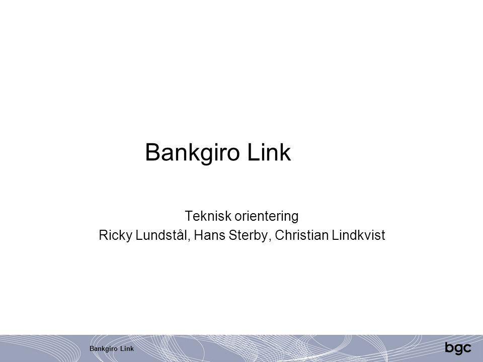 Teknisk orientering Ricky Lundstål, Hans Sterby, Christian Lindkvist