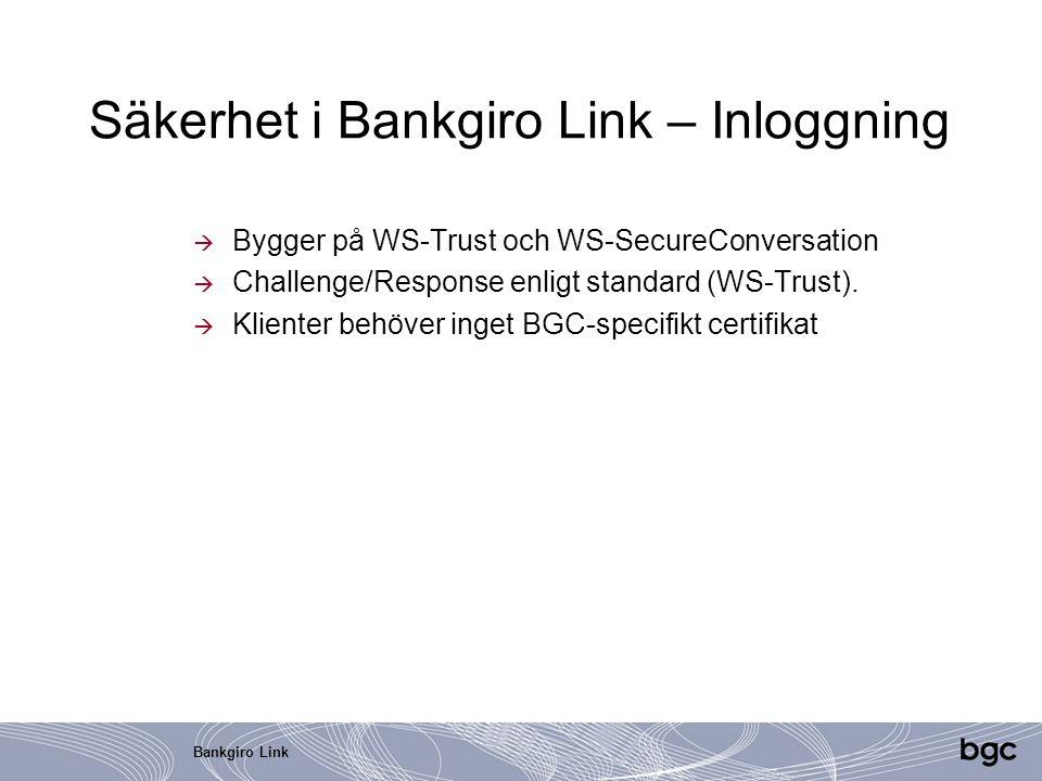 Säkerhet i Bankgiro Link – Inloggning